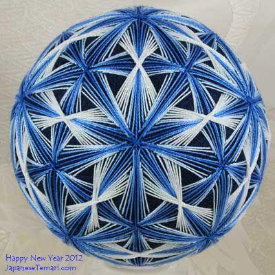 Japanese Temari: - a traditional temari gift for you  (pattern by Barbara Suess)