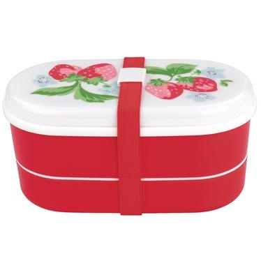 Try something different for lunch with this lovely bento box in our pretty Strawberry print. Matching drinks bottle available.