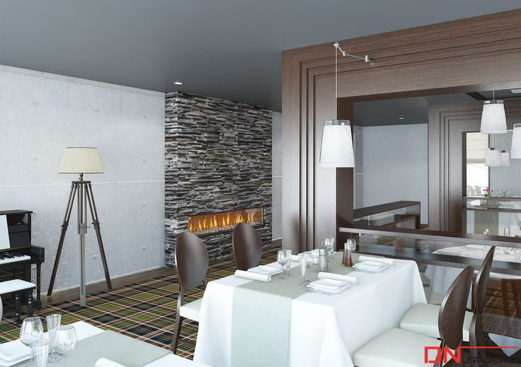 BRISTOL ART & SPA Sanatorium in Busko Zdroj, Poland. Design and Rendering of a restaurant.