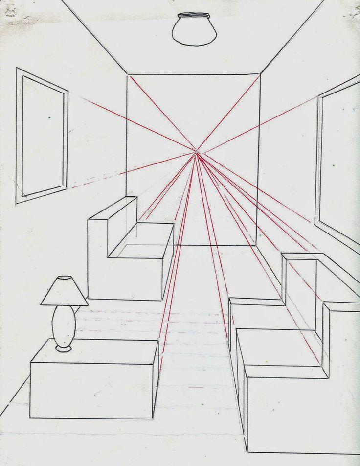 Menggambar Ruangan dengan Satu Titik Perspektif