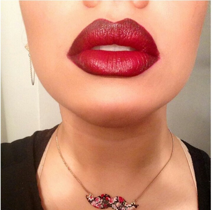 Mac Nightmoth liner & Diva lipstick ♡♡♡ Mustache necklace ...