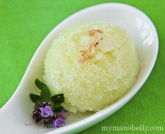 cucumber sorbet, pineapple sorbet, sorbet recipes, simple sorbet recipe, palate cleanser