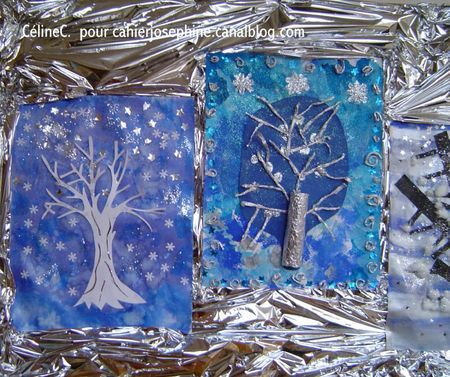 A beautiful selection of Winter Trees for art ideas/inspiration for children. No two the same...