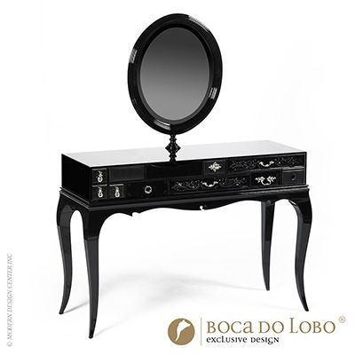 Your bedroom is never complete without a French dresser for women's refuge - Boca do Lobo Melrose Dressing Table Soho Collection available at http://www.metropolitandecor.com/Boca-do-Lobo-Melrose-Dressing-Table-MD.html