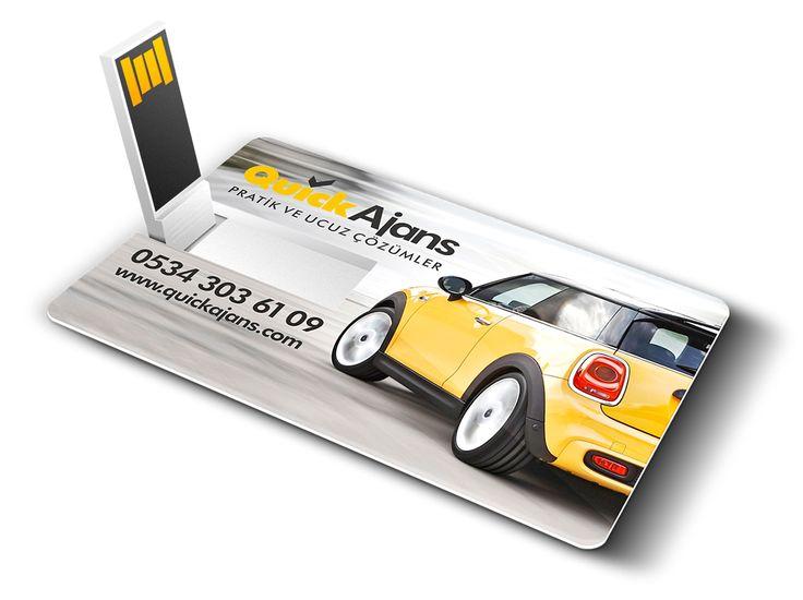 Hem usb belleğinizi cüzdanınızda taşıyın. Hem de kaybolursa da reklamınız devam etsin. #kartvizit, #usb, #bellek, #flash, #quickajans, #quick, #ajans