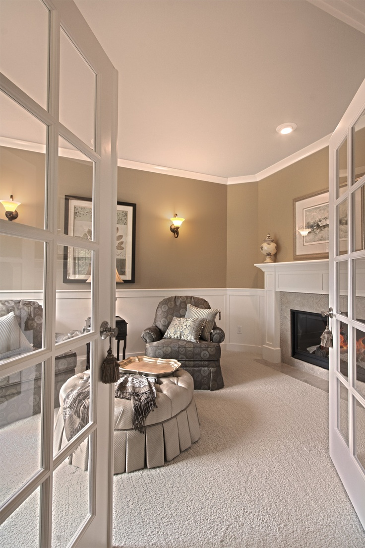 Wainscoting master bedroom - Sitting Area With Fireplace In Master Bedroom Vdb Estates For More Info On This