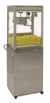 HTD Canada 8 oz Silver Screen Professional Popcorn Machine With Base