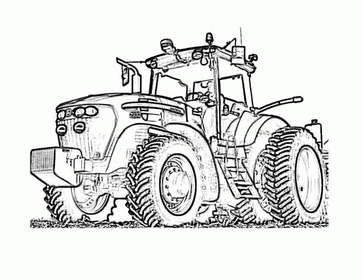 tractor coloring page images