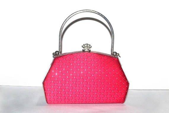 Red Evening Bag Small Handbag Purse Cute Satchel Mini Handle