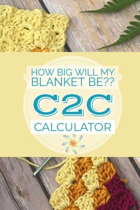 C2C Blanket Size Calculator vai fazer de você um C2C pro! - Crochet em Ouro Stardust