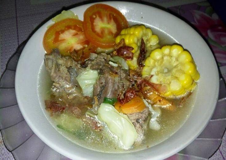 Sop Tulang Sapi Simpel Banget Makanan Resep Masakan Resep Masakan Indonesia