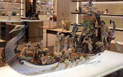 Lladró, a Spanish maker of porcelain figurines. Cost is $223,000/- ( Including Indian import duties ) High Porcelain ; Queen of the Nile... the land mark in the history of art porcelain and the biggest artistic and technical display ever made by Lladro.