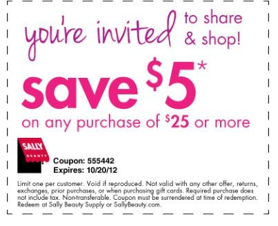Sally beauty supply in store printable coupons 2018