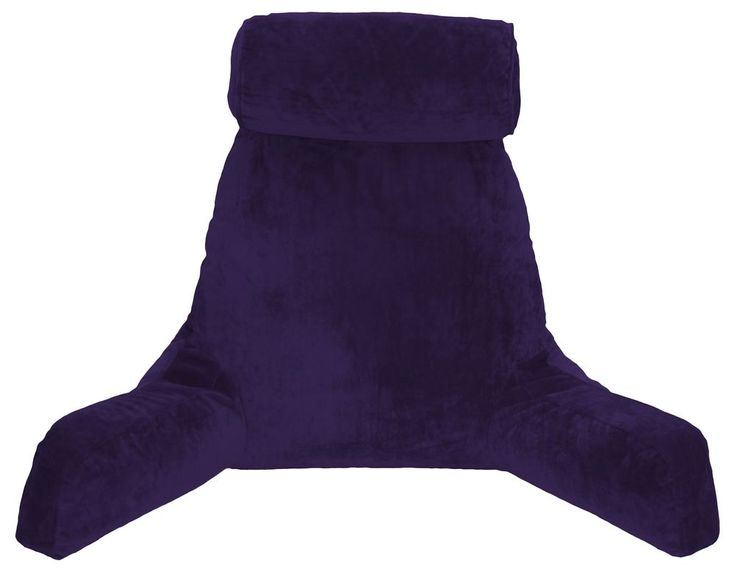 New Husband Pillow Bedrest Reading & Support Bed Backrest with Comfy Arms Purple #HitNotion