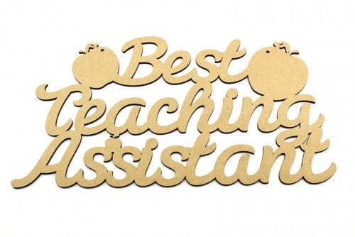 Best Teachinhg Assistant plaque.  Teacher and Teaching assistant gifts ready to paint. http://www.lornajayne.co.uk