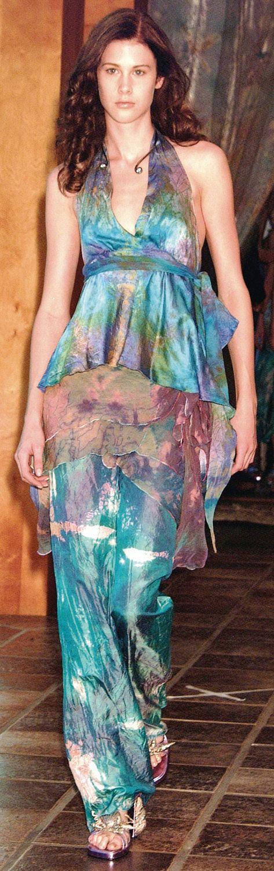 silk wrap skirt pants with a silk halter top custom made by momosoho by momosoho on Etsy