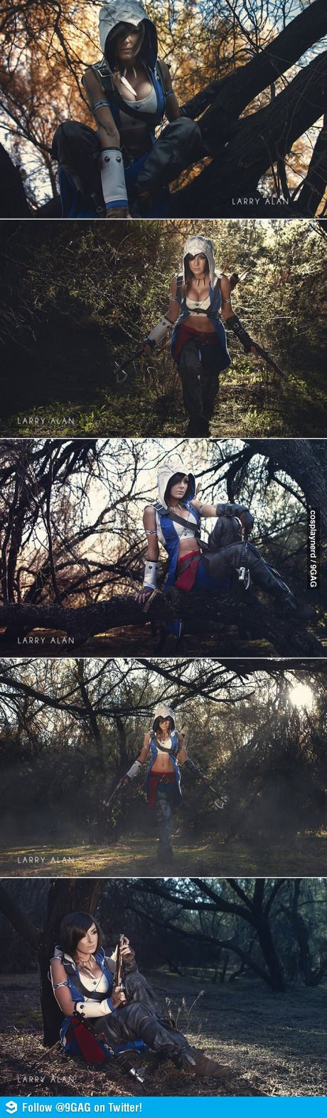 Assassins Creed Cosplay Jessica Nigri. She's such a cool chick!!!