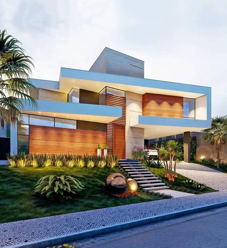 Fachada de casas modernas: 60 inspirações para você! – Dicas de decoração   – Architektur