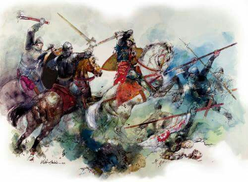 'Loyaulté Me Lie'. Richard III at the Battle of Bosworth by unknown artist