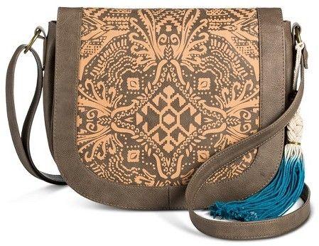 T-Shirt & Jeans Women's Laser Peel Saddle Handbag - Taupe Brown  https://api.shopstyle.com/action/apiVisitRetailer?id=605349116&pid=uid2500-37484350-28