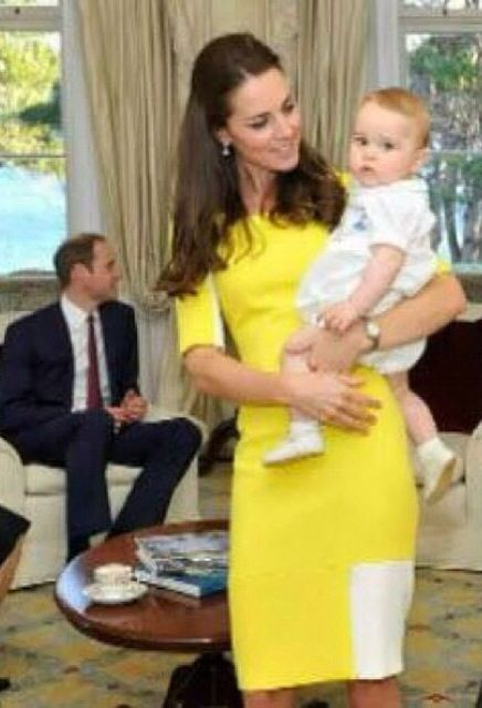 William, Kate and Baby Prince George's first evening in Australia
