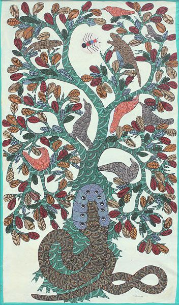 by  Jangarh Singh Shyam, 1984, Gond art, India