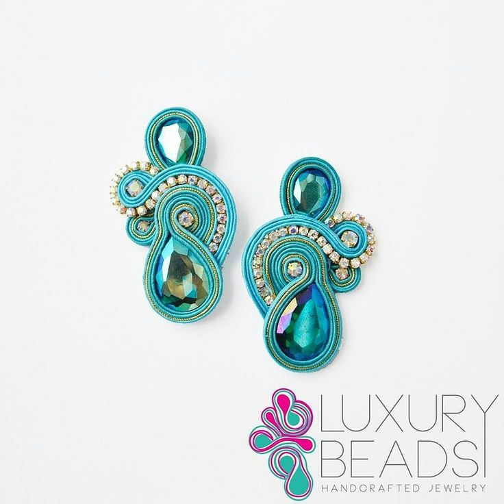 Soutache earrings turquoise