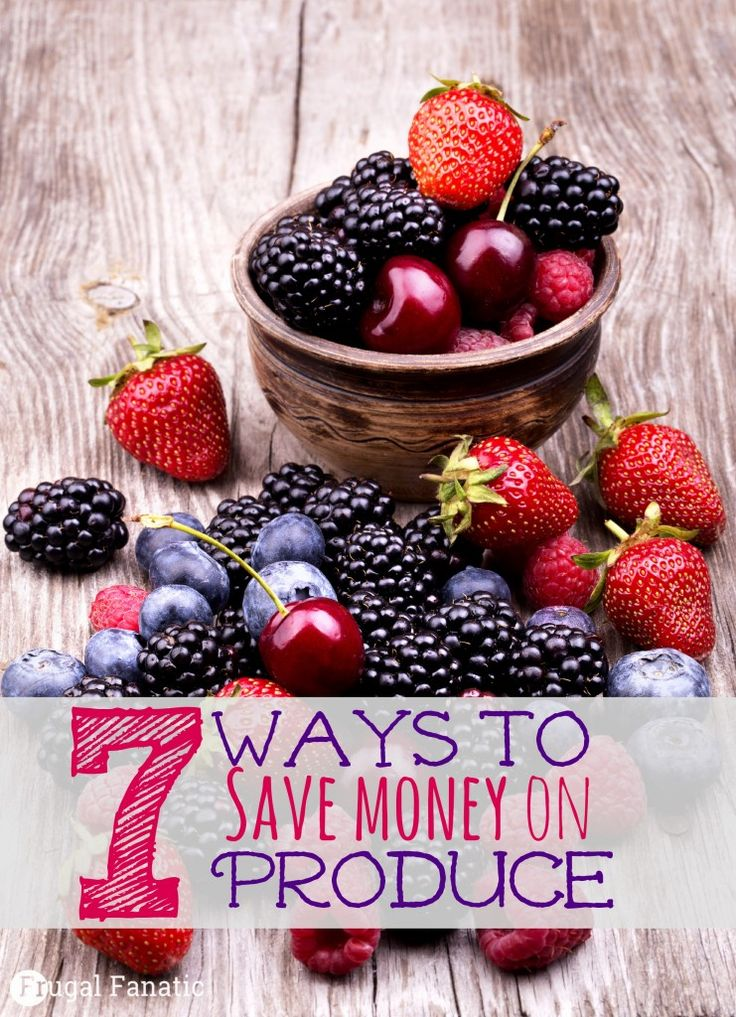 Want to save money but still eat healthy? Read these 7 tips to learn how you can save money on produce - #6 can really make a difference!