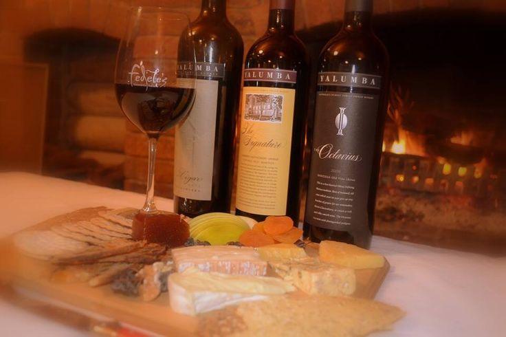 Yalumba wine and cheese
