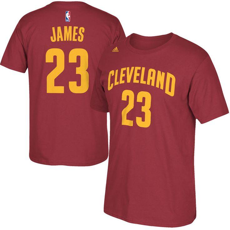 LeBron James Cleveland Cavaliers adidas Net Number T-Shirt – Wine