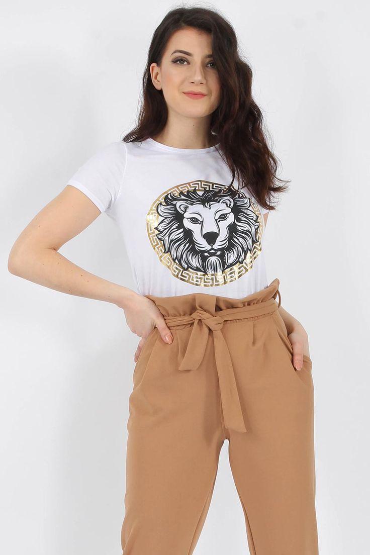 Wholesale Clothing UK, Online Fashion Wholesaler  Manchester & USA - Missi Clothing Tiger Foil Slogan T-shirt