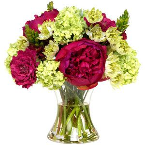 Diane James Peony and Zinnia Bouquet - Transitional - Artificial Flower Arrangements - by Diane James Home