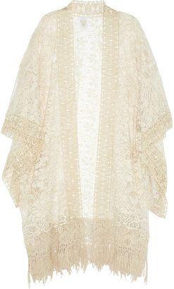 ~lovely, light and lacy kimono~ Anna Sui Draped lace kimono top