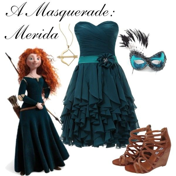 """""""A Masquerade: Merida"""" by helsingmusique on Polyvore"""