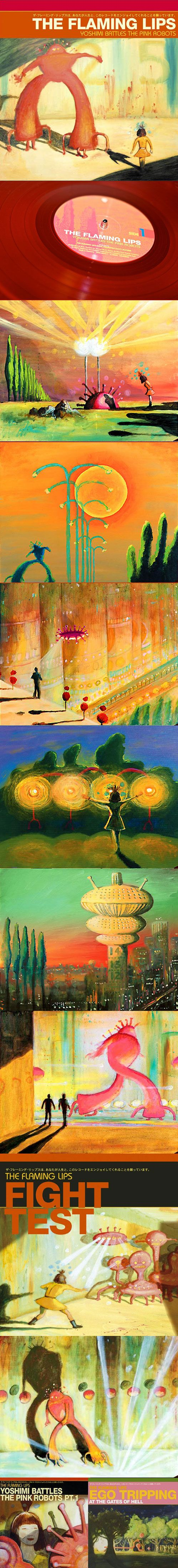 """Flaming Lips - 2002 - """"Yoshimi Battles The Pink Robots"""" Complete Covers Collection - George Salisbury -----"""