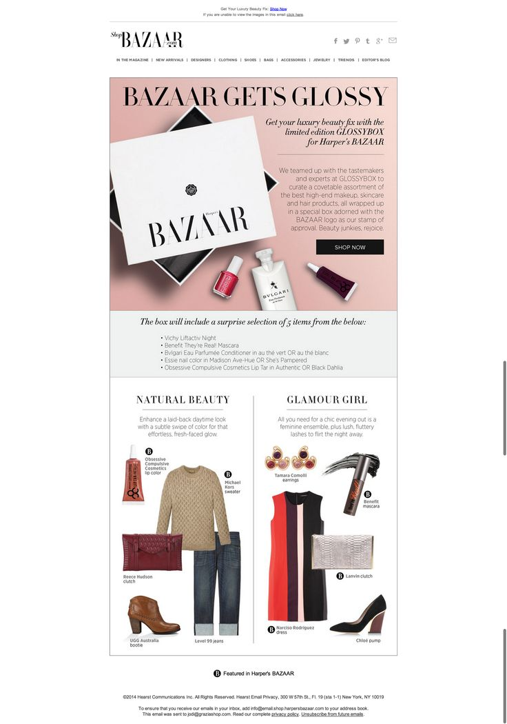 """Get the special-edition GLOSSYBOX for Harper's BAZAAR"""