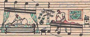 Spartiti musicali trasformati in bellissime illustrazioni