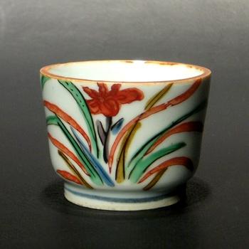 作家名 : 北大路 魯山人 Rosanjin Kitaohji  作品名 : 古九谷風草花文ぐいのみ Sake cup