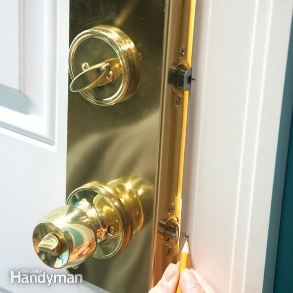 Home Security: How to Increase Entry Door Security -Install reinforcing hardware on your door and jamb to stop burglars
