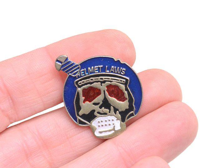 Pin de calavera, Pin heavy, pin de solapa, pin de calavera y casco, pins moteros, cascos, Harley Davidson