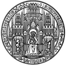 Seal of Heidelberg University  Motto: (The book of learning is) always open - the Future. Since 1386.