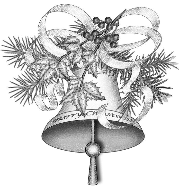 Christmas. bells, drawing Illustration png file
