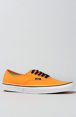 Vans Footwear  The Authentic Sneaker in Neon Orange & Green