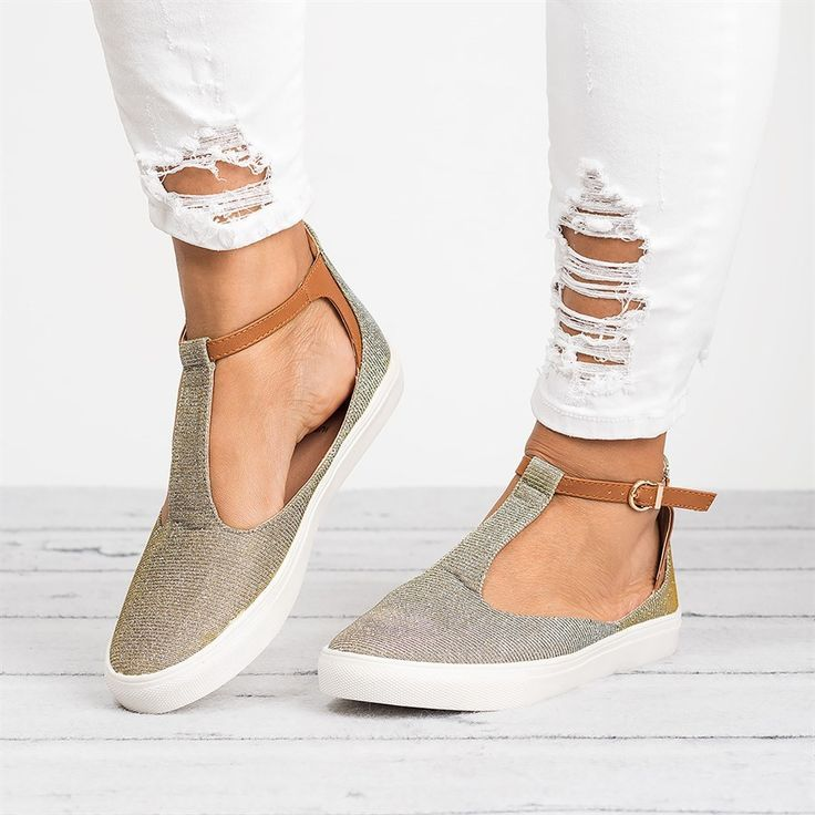 Miss T-Strap Sneakers   2 Colors