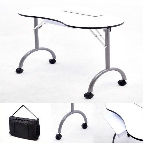 portable manicure table nail art beauty salon mobile white desk storage drawer