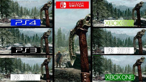 Vídeo compara gráficos das versões de Skyrim de Switch PS3 PS4 Xbox 360 Xbox One PC 2011 e PC 2016