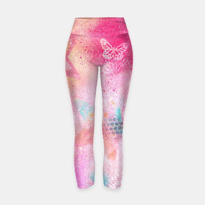 graffiti stars yoga pants