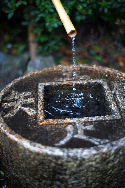 Ryōan-jiWater Fountain, The Gardens, Japan Teas Ceremonies, Water Features, Gardens Water, Japanese Gardens, Japan Gardens, Gardens Stuff, Bamboo Fountain
