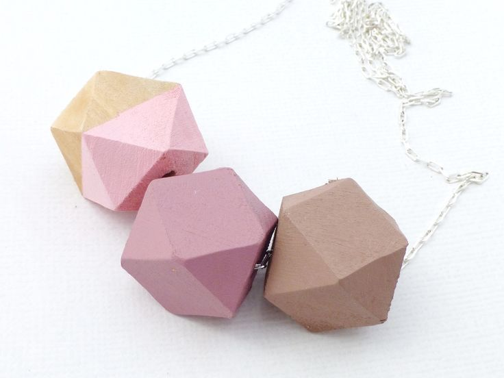 Blush Geometric Bead Necklace - Pink - Whimsy & Grace