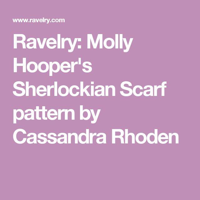 Ravelry: Molly Hooper's Sherlockian Scarf pattern by Cassandra Rhoden